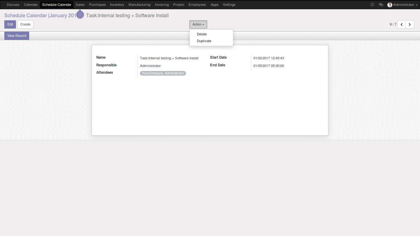 Schedule Calendar – FOSS INFOTECH – Open Source Implementation
