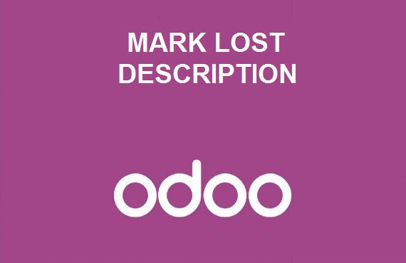 Mark as lost description