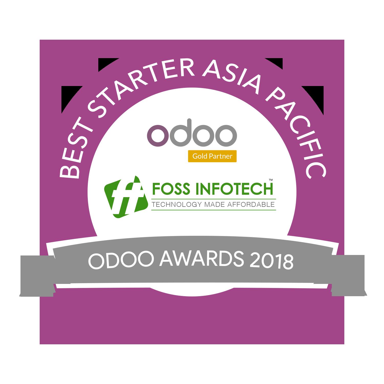 Best Starter of Asia Pacific – Odoo Awards 2018 – FOSS